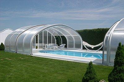 Cubiertas altas para piscinas Milos