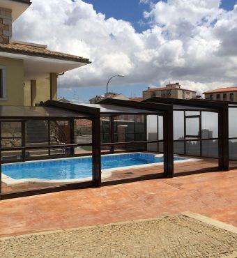 Cobertura para piscina Telescopica em Porto