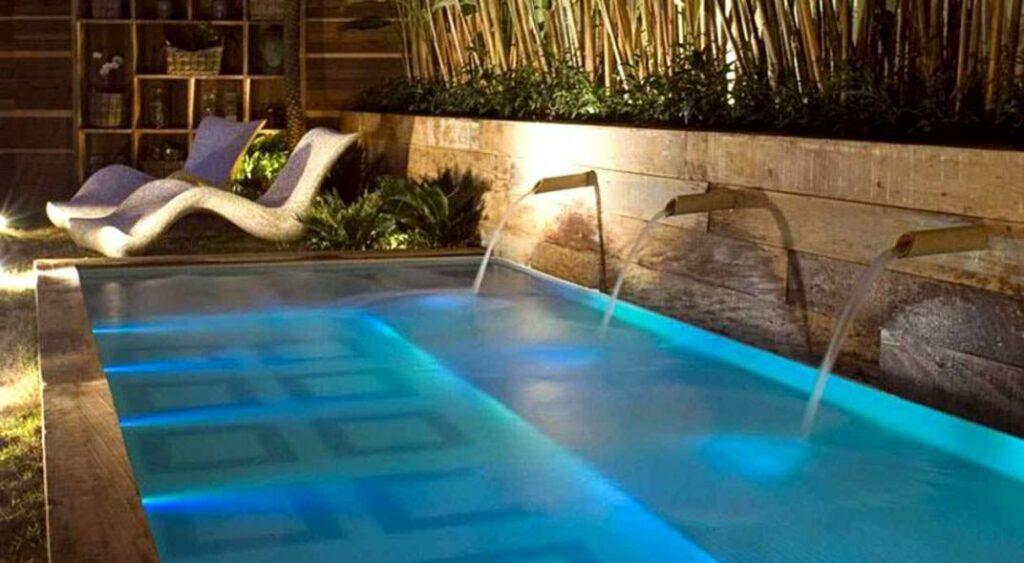 Luzes para piscina sem instalação